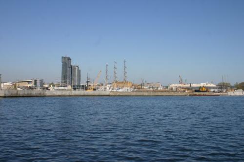 Widok na Gdynie z wody