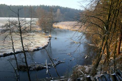 Dolina rzeki Wdy zimą